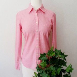 J. Crew Pastel Pink Button Up Long Sleeve Shirt S